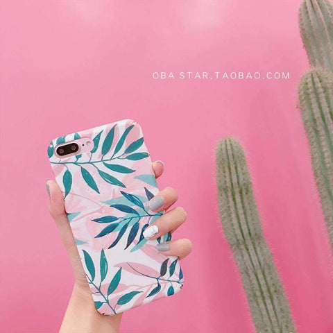 Pink Summer Vibe Leaf iPhone Case gallery 3