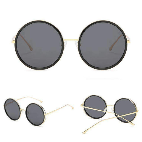 Circle Shape Lens with Wire Side Sunglasses gallery 2
