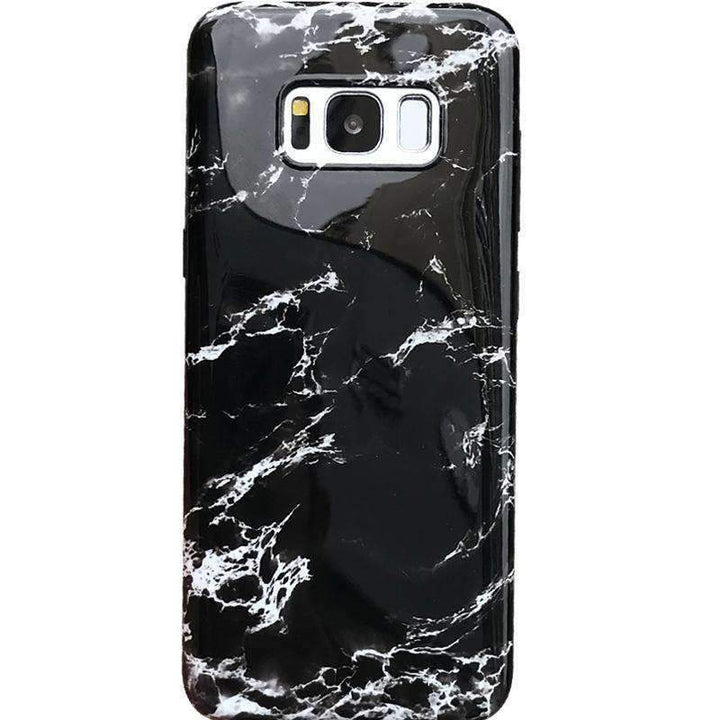 Anti-Fall Black&White Marble Phone Case for Samsung gallery 2