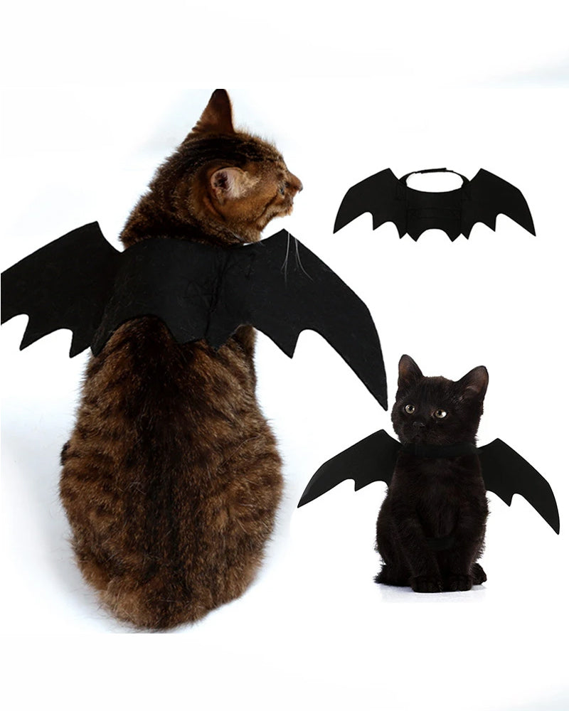 Halloween Bat Wings Cat Costume