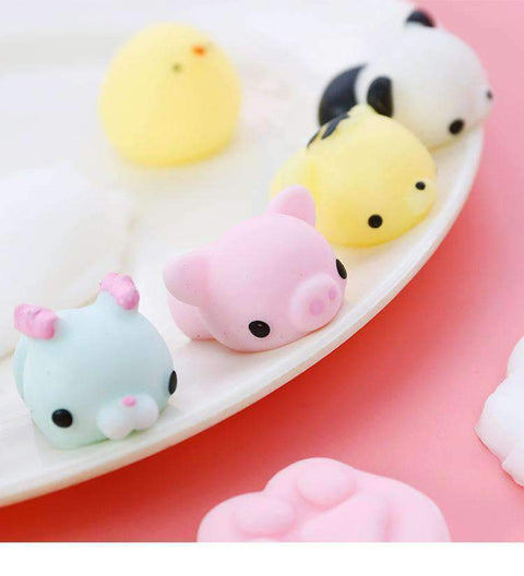 15Pcs Cute Soft Stress Relief Animals Squishy Toys gallery 1