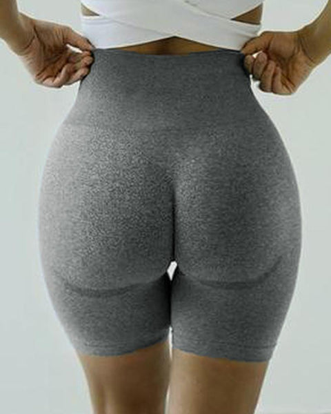 Beauty Contour Wide Waistband Sports Shorts gallery 6