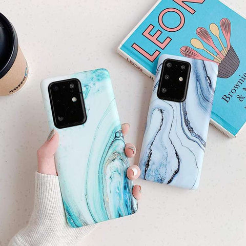 Frosted Motif Marble Phone Case for Samsung gallery 1