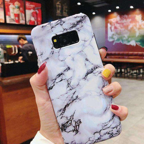 Simple Marbled Phone Case For Samsung gallery 2
