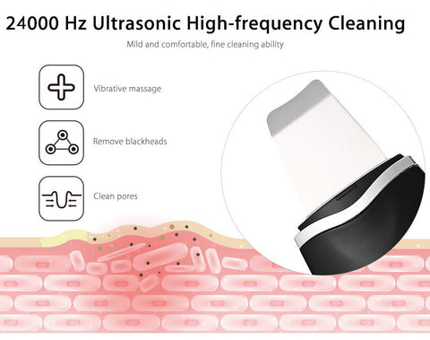 Ultrasonic Rechargeable Face Skin Scrubber Facial Cleaner gallery 7