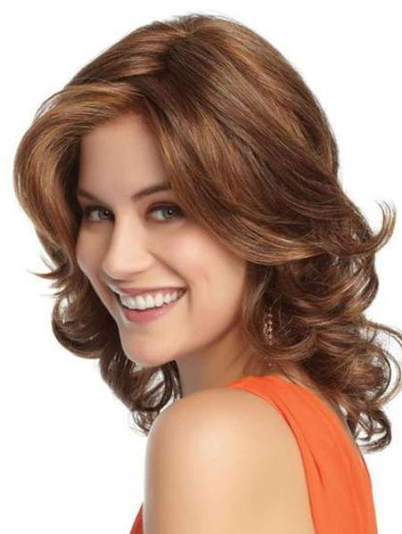 Blonde Curly Shoulder Length Synthetic Wig