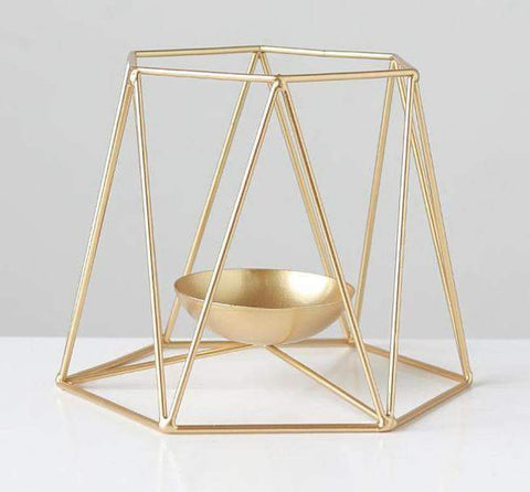 Metal Grid Candle Holder gallery 4