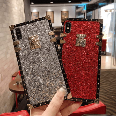 Sparkle Sequins Detail Square Phone Case for Samsung gallery 2