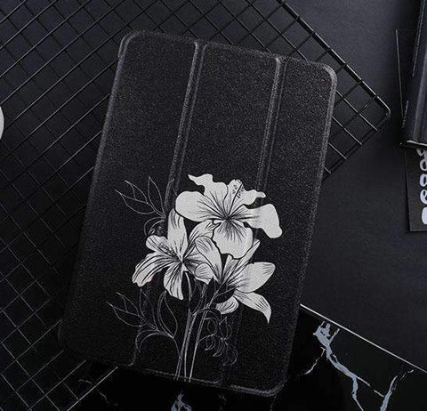 Creative Design Floral Print iPad Cover Case gallery 3