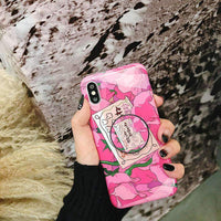 Chic Floral Print Phone Case for Apple iPhone with Phone Holder