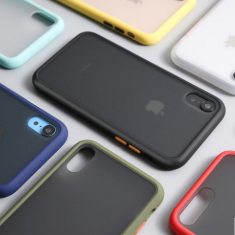 Solid Color Silicone Frosted iPhone Case