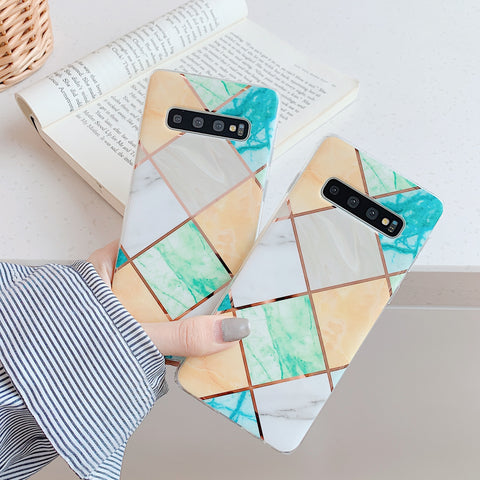 Rhombus Stitching Color iPhone Phone Cases