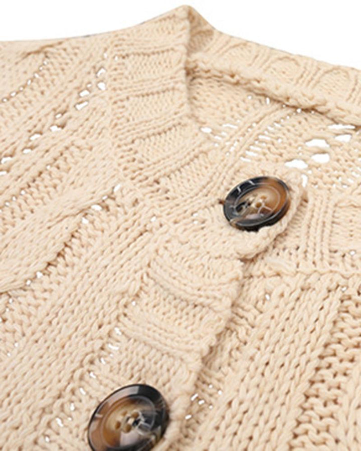 Chunky Knit Button Front Sweater gallery 9