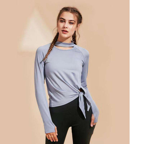 Quick Dry Leisure Sports Yoga Long Sleeve Top