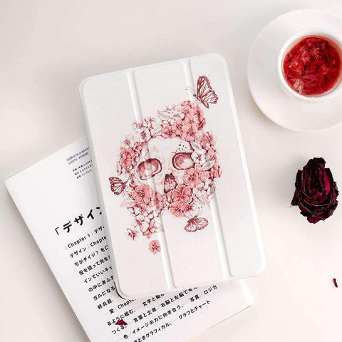 Creative Flower Butterfly Skull Apple iPad Cover Case gallery 1