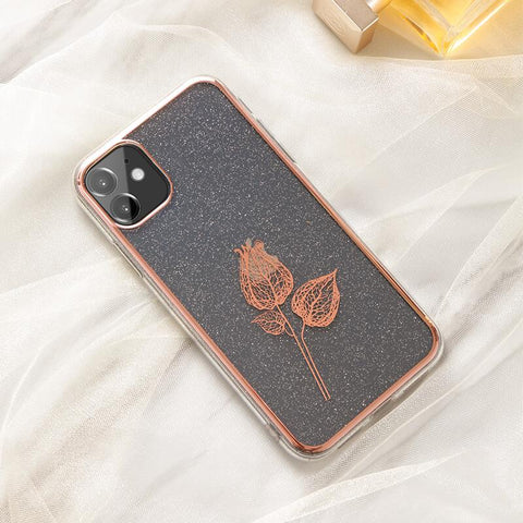 Cute Electroplate Floral/Letter Pattern Phone Case for Samsung gallery 6
