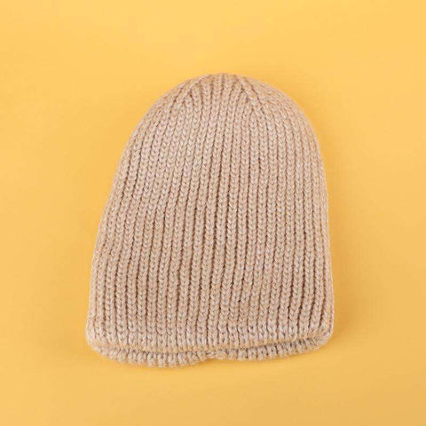 Candy Color Hand-knitted Simple and Thickened Hat gallery 5