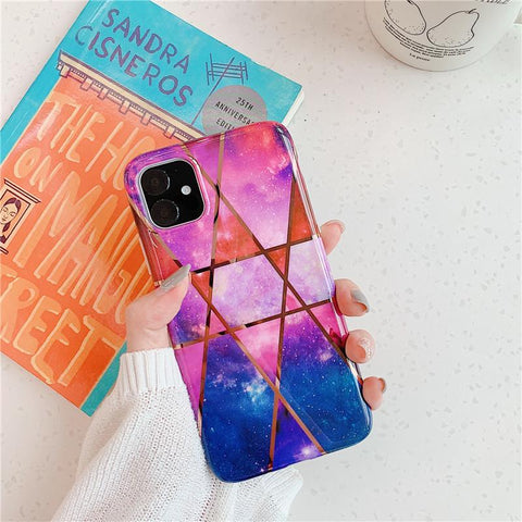 Asymmetric Marble Print Phone Case for Samsung gallery 5