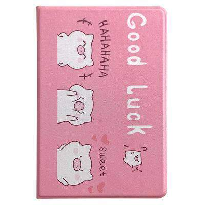 Cute Cartoon Pig Painted Apple iPad Cover Case gallery 5