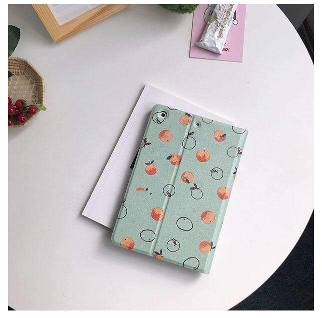 Contracted Orange Pattern Apple iPad Cover Case