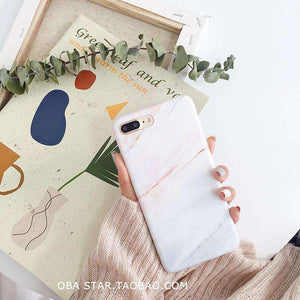 Chic Marble Coral iPhone Case