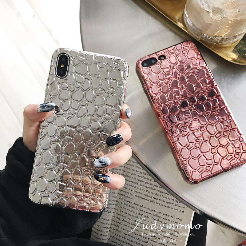 Trendy Silver Shining iPhone Case