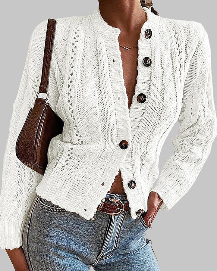 Chunky Knit Button Front Sweater gallery 5