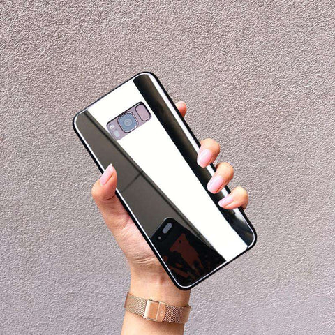 Mirror Tempered Glass Phone Case for Samsung gallery 1
