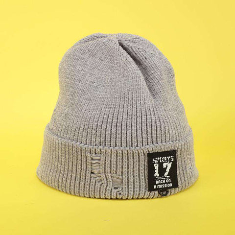 Harajuku Style Winter Thick knitted Woolen Hat for Men and Women gallery 5