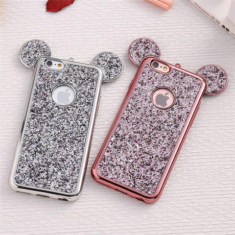 Creative Electroplated Ear Designed iPhone Case