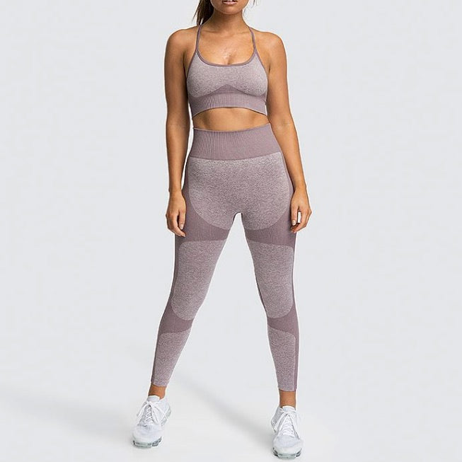 New Colors Arrival Squat-proof Seamless Enhance Compression Fit Yoga Set