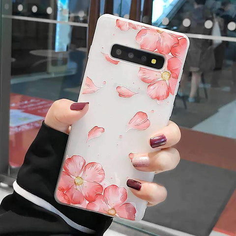 Frosted Literary Flower Painted Samsung Case gallery 3