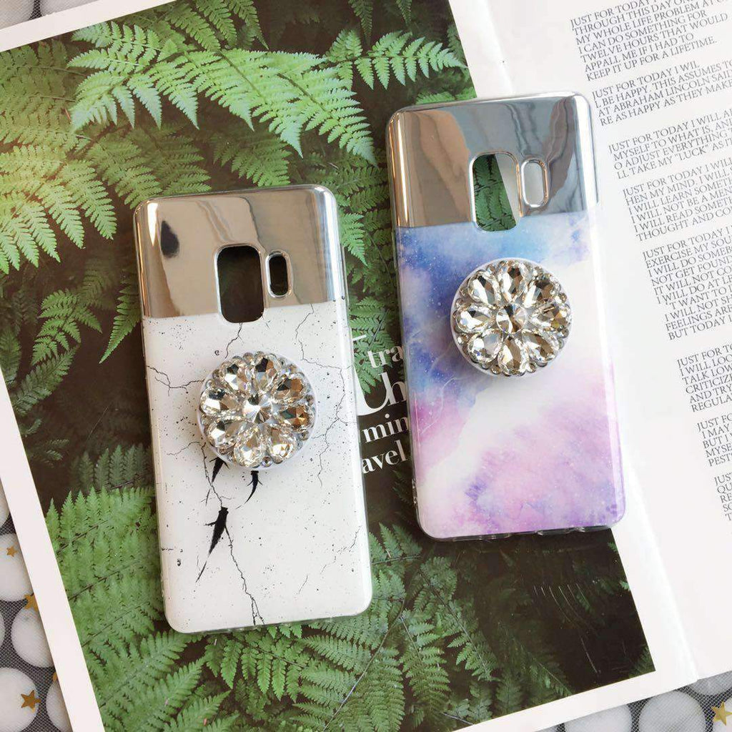 Dreamy Mirror Design Phone Case for Samsung with Phone Holder
