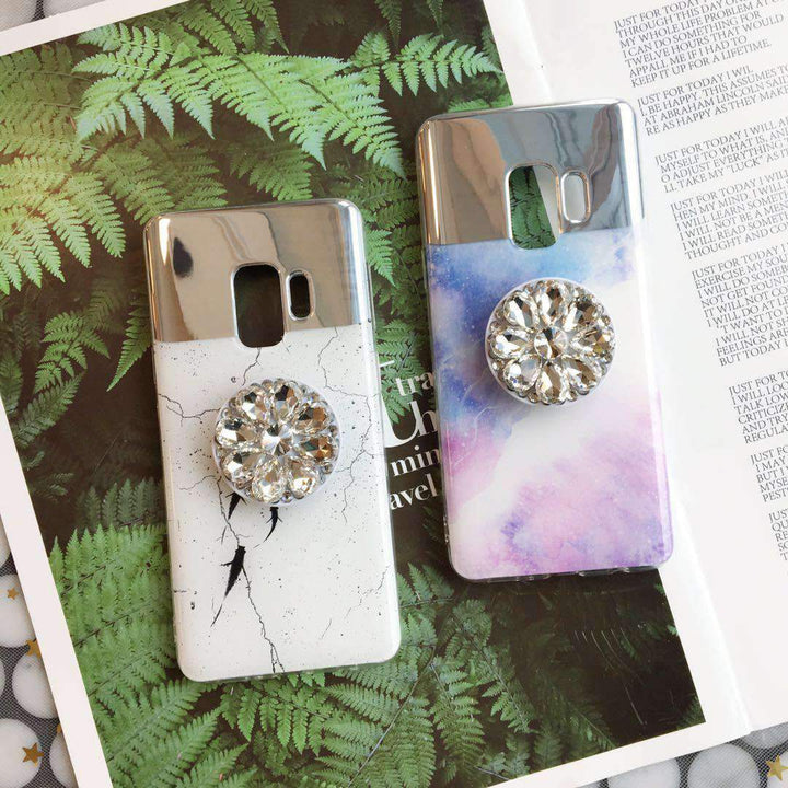 Dreamy Mirror Design Phone Case for Samsung with Phone Holder gallery 1