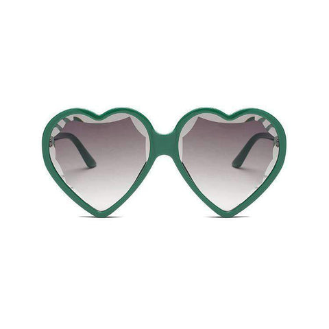 Candy Color Ombre Heart Shape Lens Sunglasses gallery 9
