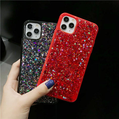 Luxury Sparkle Sequins Bling Shockproof Phone Case for Samsung gallery 4