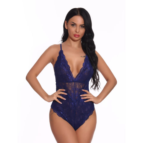 Deep V Neck Sexy Lace Teddy
