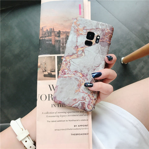 Matte Marble Printed Phone Case For Samsung gallery 3