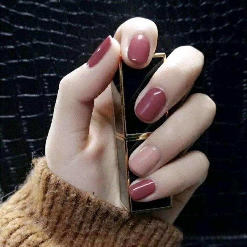 Classic Pink Magic Press Nail Manicure