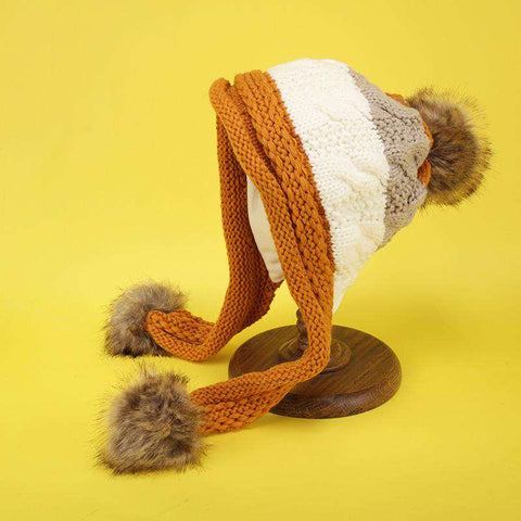 Women's Winter Cute Assorted Color Warm Thick Hat gallery 5