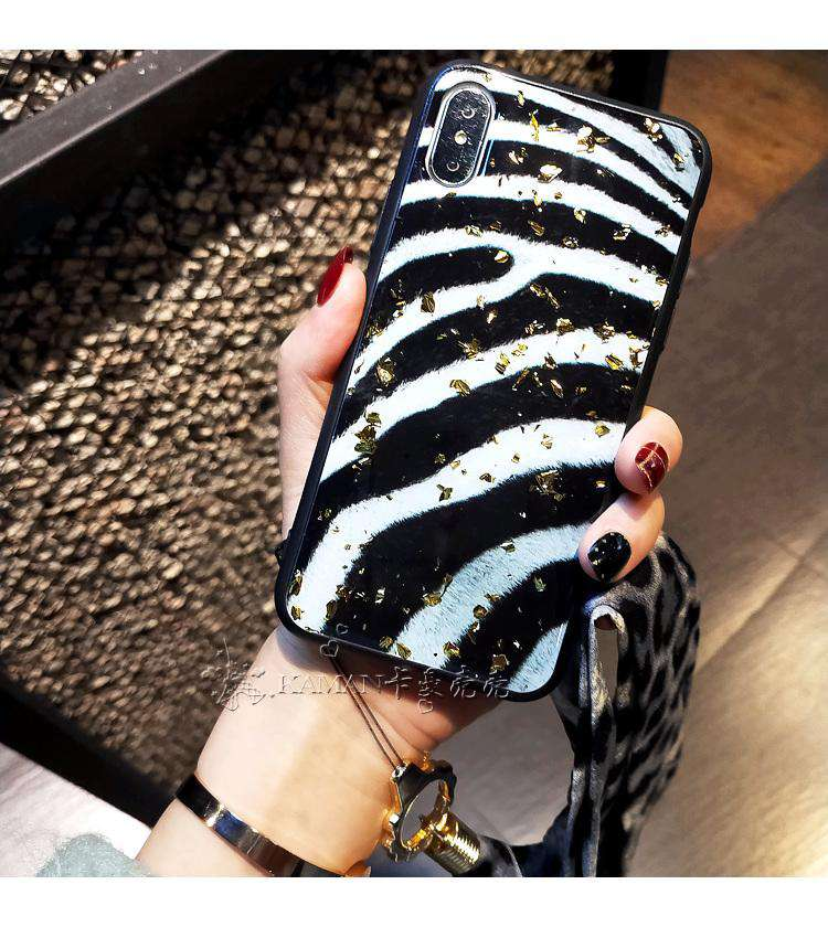 Zebra And Leopard Pattern Silicone Gel Case For iPhone