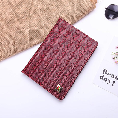 Knitted Grain Pure Color Foldable iPad Cover Case gallery 2