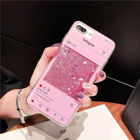 Creative Chat Page Designed Liquid Bling Glitter Samsung Case gallery 1