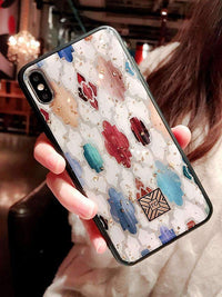 Chic Marble Textured Soft Creative Phone Case for Apple iPhone