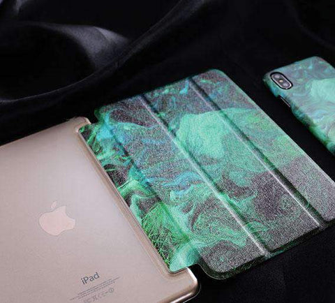 Abstract Green Painting Apple iPad Cover Case gallery 2