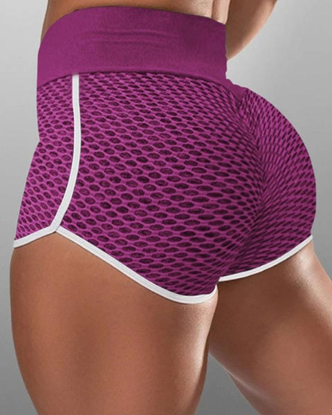 Contrast Binding Textured Sports Shorts gallery 3