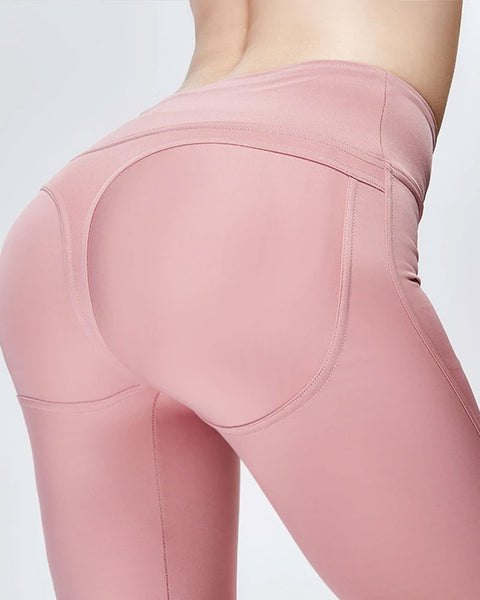 High Waisted Solid Speed Up Leggings