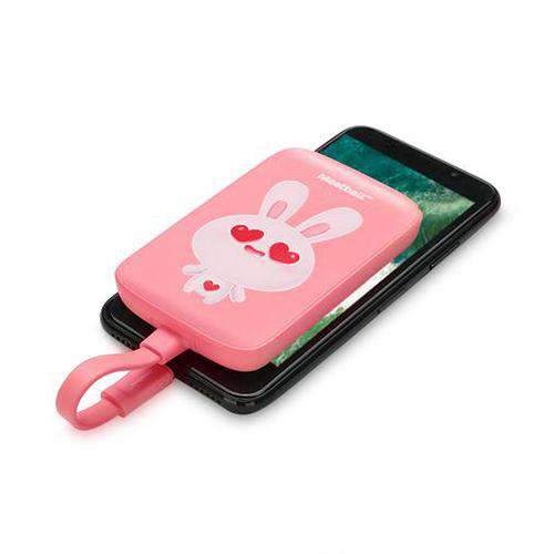 Cute Style 5000mAh mini Power Bank with Apple Charging Cable