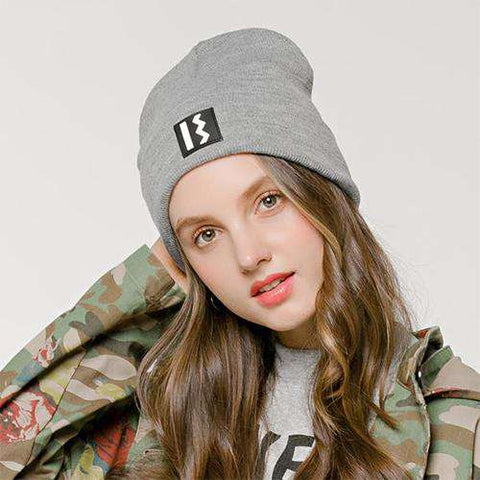 Women's Solid-color Stitch Knit Beanie Hat gallery 2