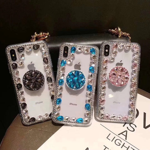 Ring Rhinestone Phone Case for Samsung with Phone Holder gallery 7